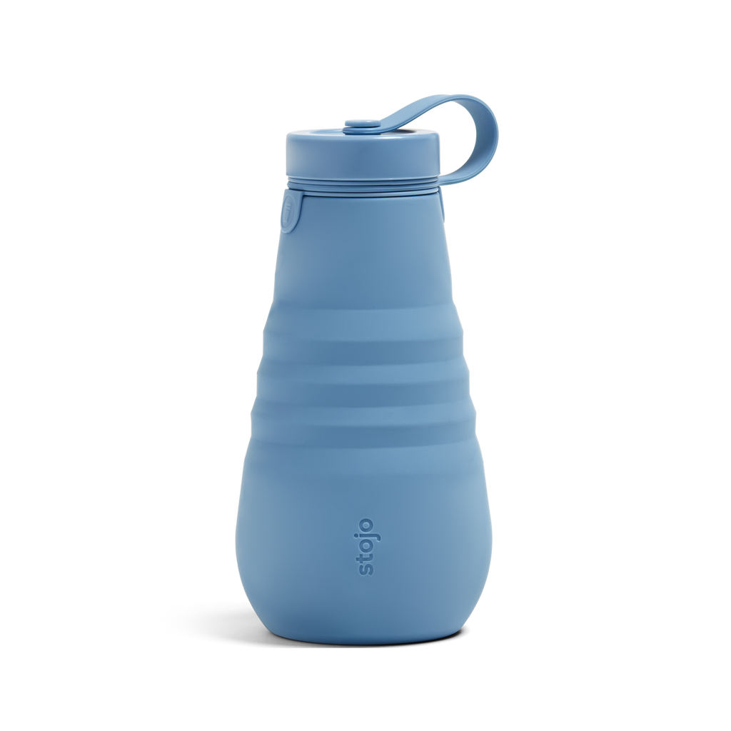 stojo collapsible bottle Steel Blue reusable