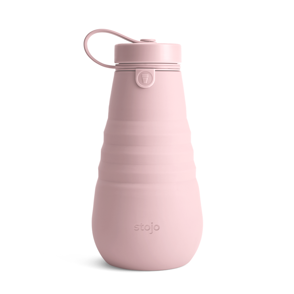 Stojo collapsible bottle reusable Carnation