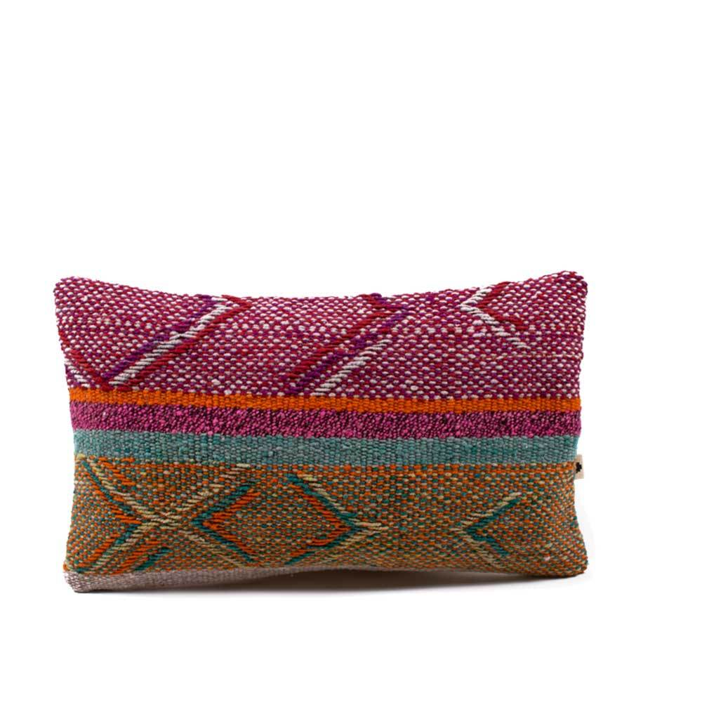 100% wool Peruvian rectangular handwoven multi colour cushion covers natural dyes