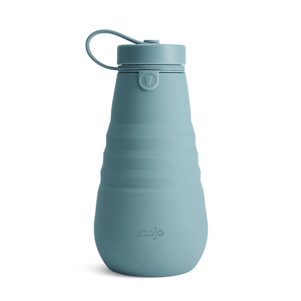 Stojo collapsible bottle reusable eucalyptus green