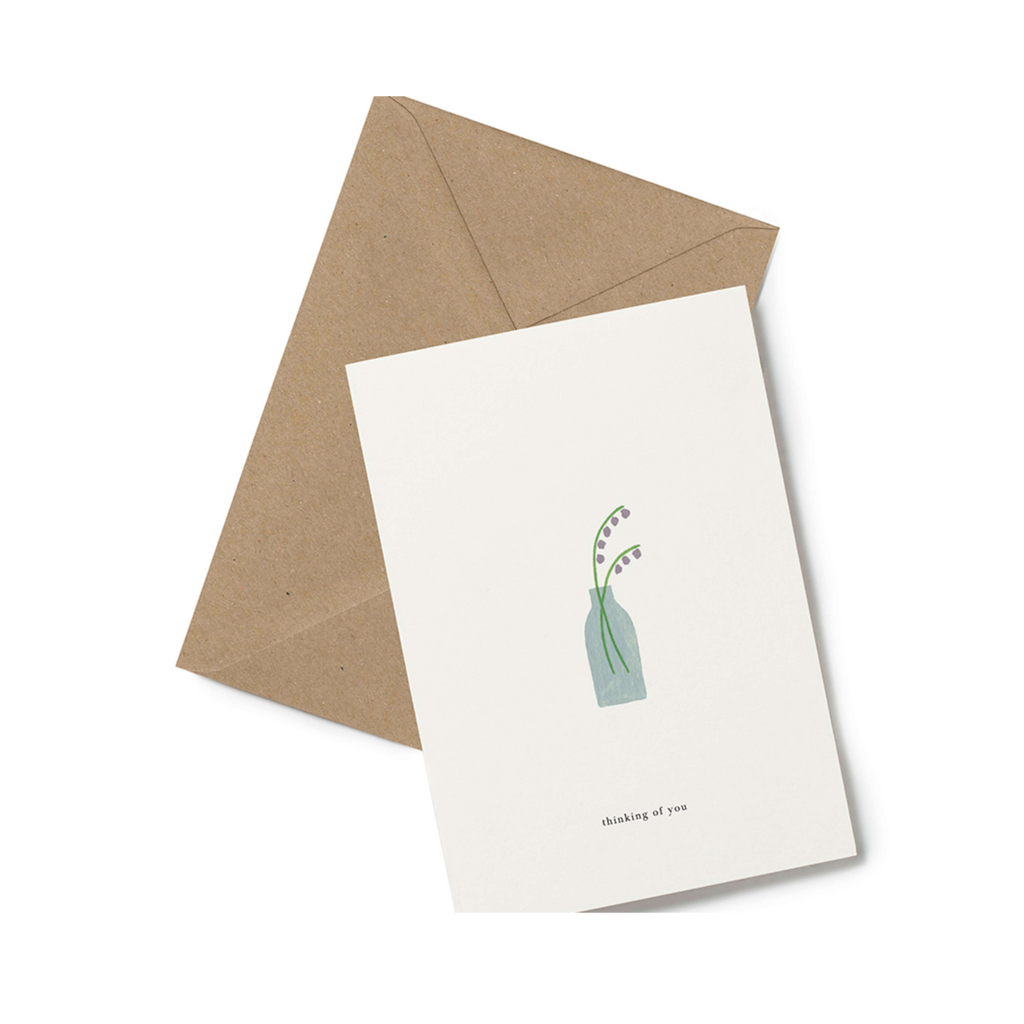 Thinking of you condolence card minimalist design