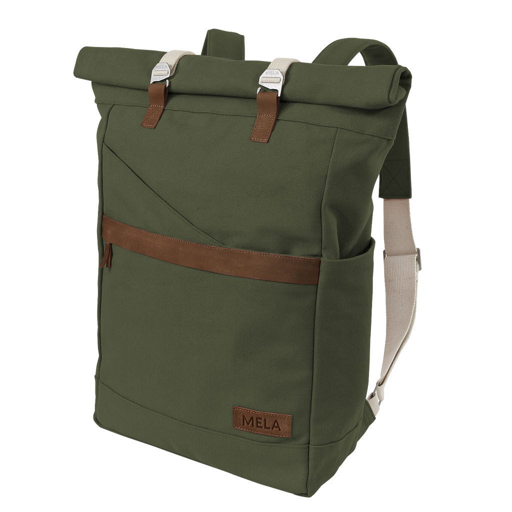 melawear answer GOTS certified organic cotton fairtrade folder roll top rucksack like fjällräven sustainable ethical eco bag