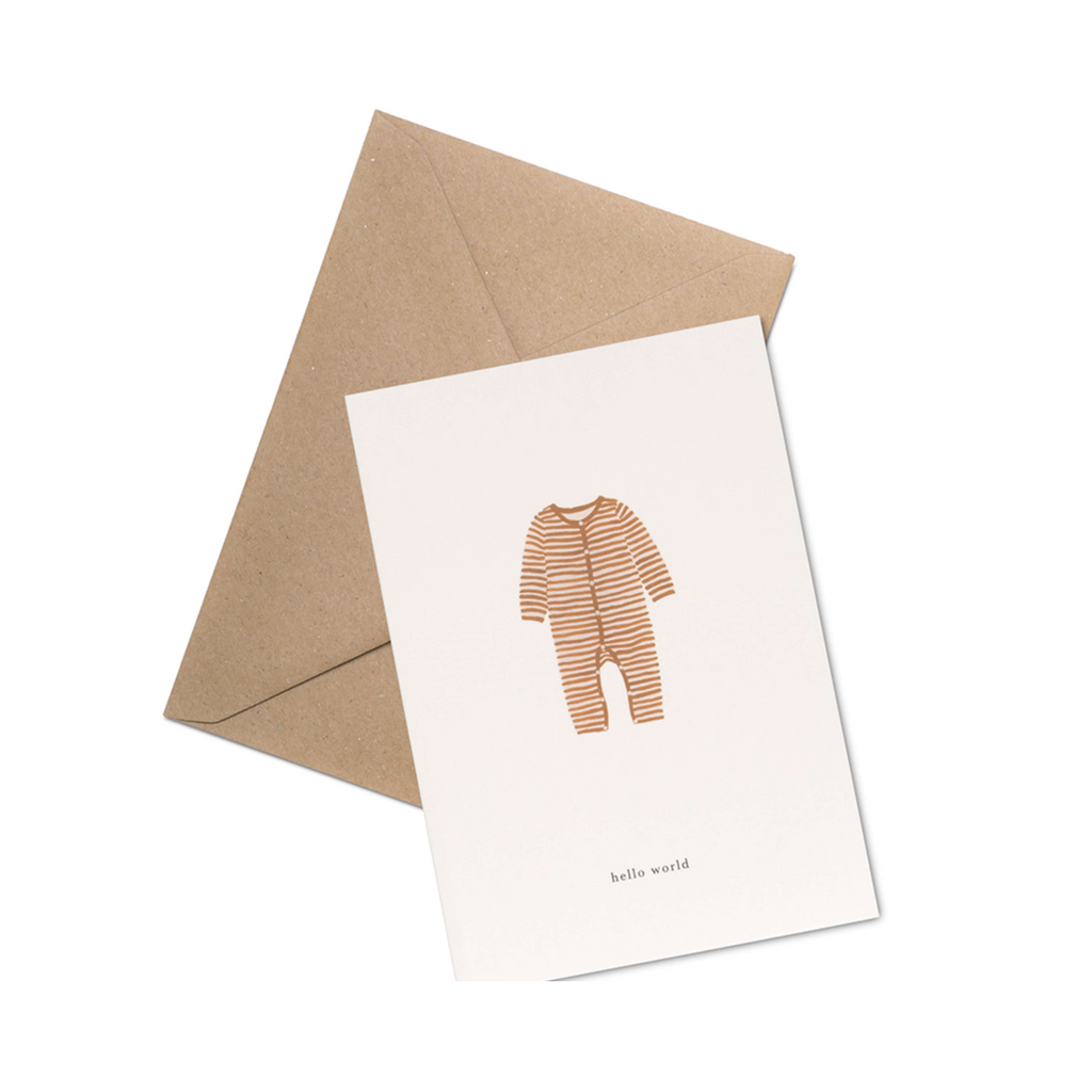 New baby greetings card minimalist