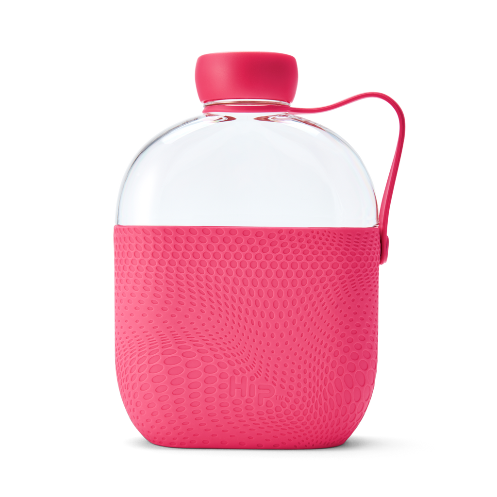 hip bottle hot pink travel water flask 650ml