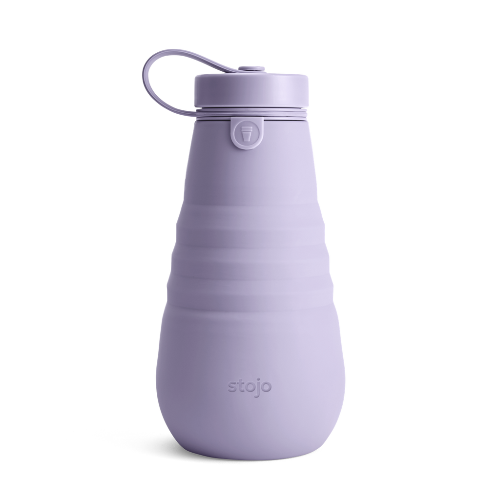 Stojo collapsible bottle reusable lilac