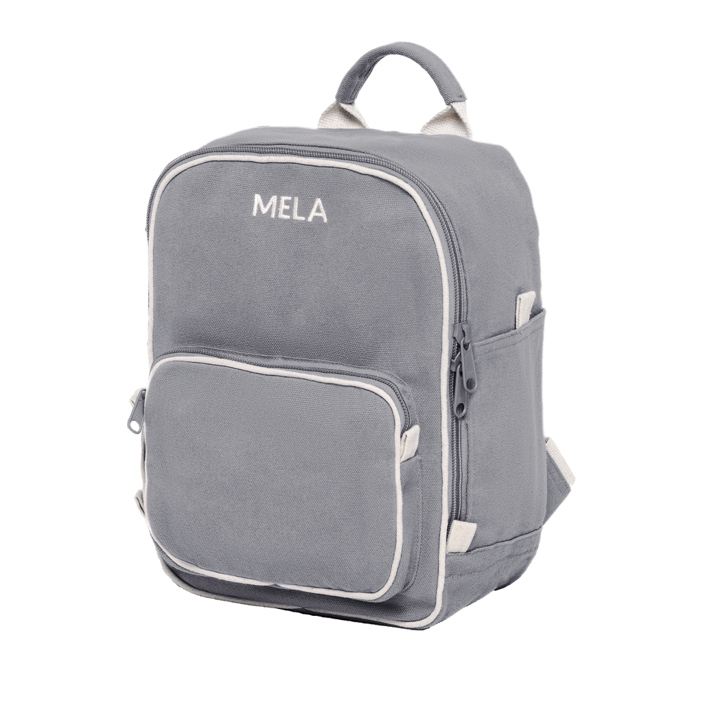 Melawear mini backpack grey organic fairtrade cotton like fjallraven rucksack