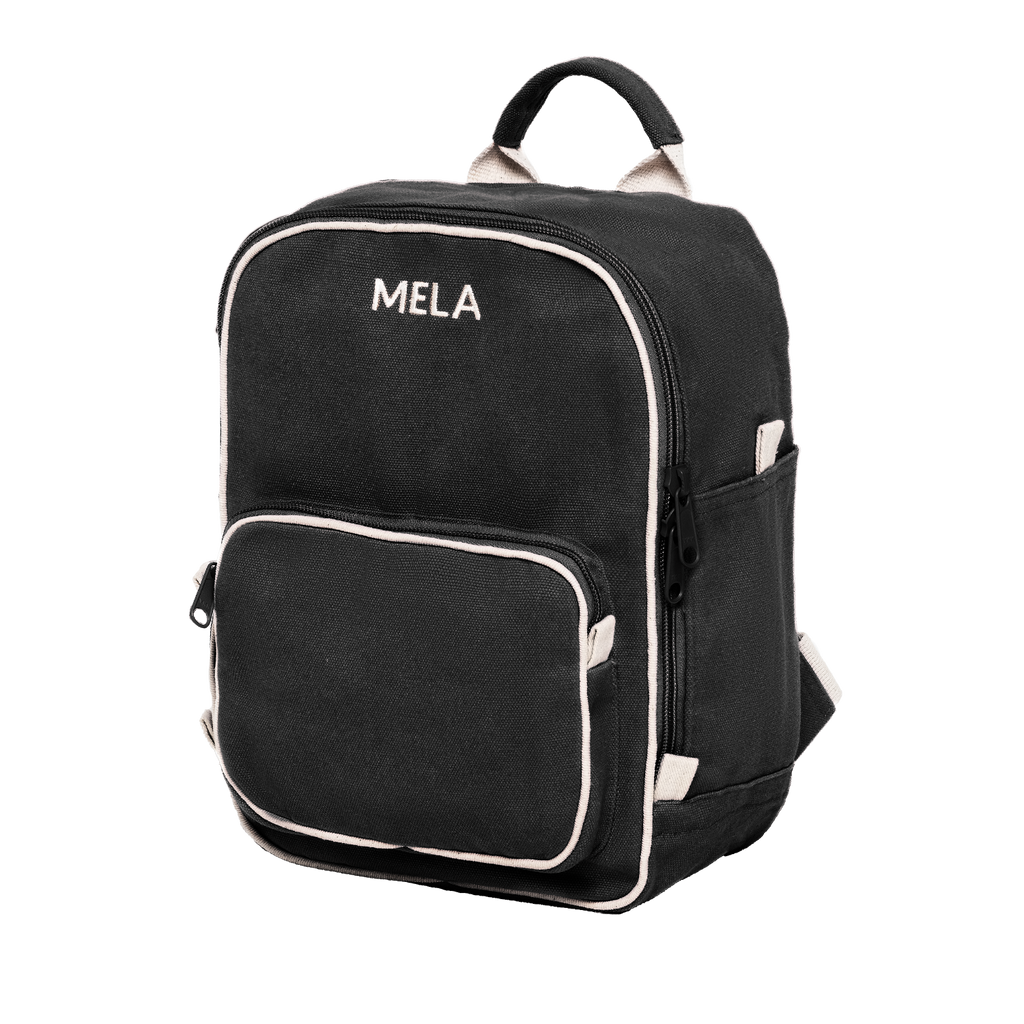 Melawear mini backpack black organic fairtrade cotton like fjallraven rucksack