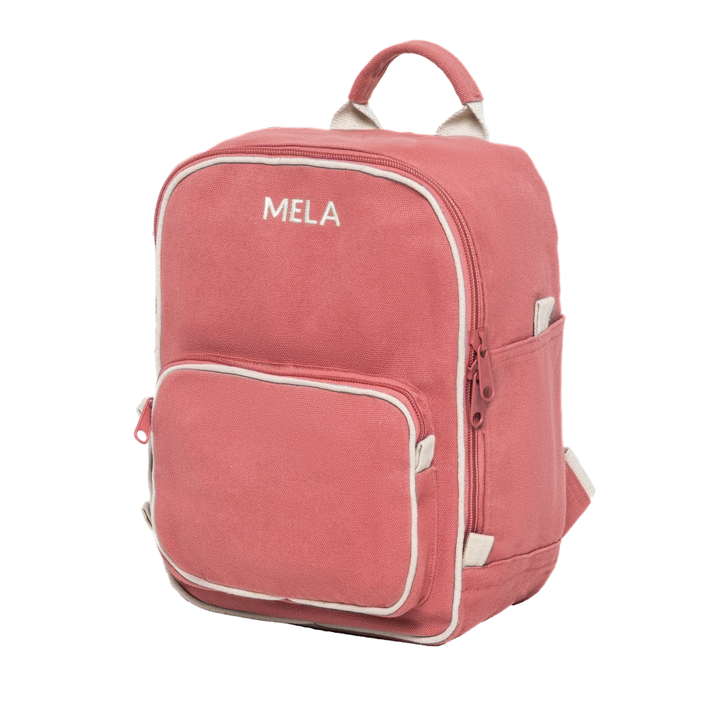 Melawear mini backpack vintage red pink organic fairtrade cotton like fjallraven rucksack