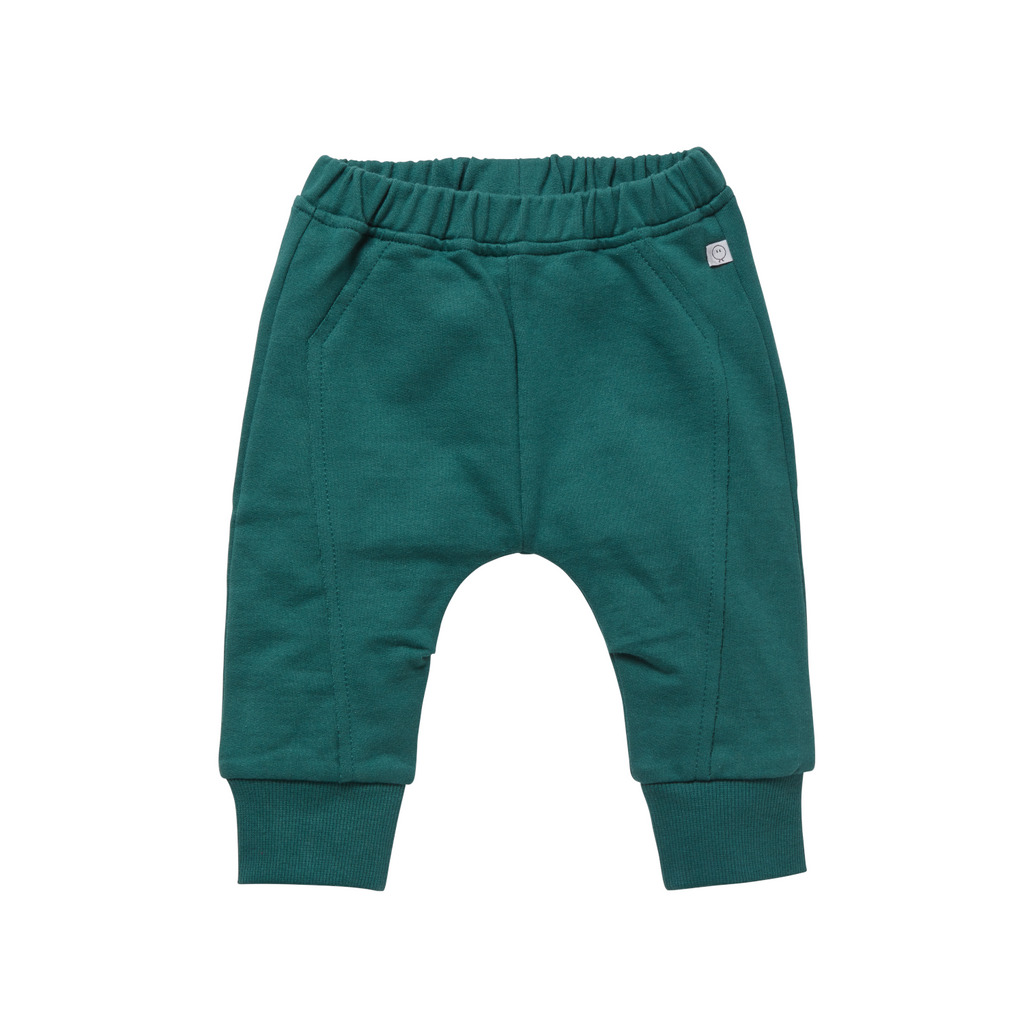 Mori Organic baby clothes organic cotton green joggers for babies/children