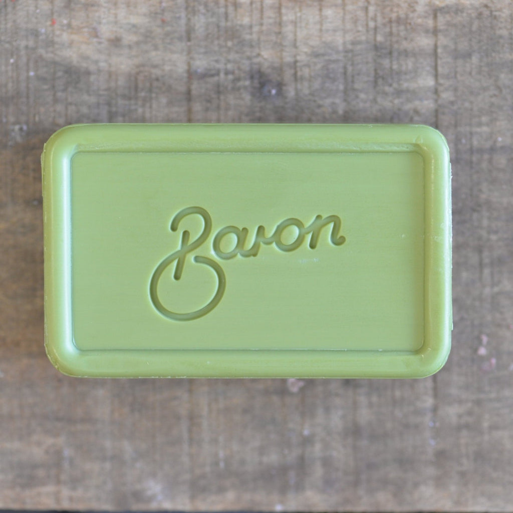 Baron shower bar - olive sustainable plastic free soap bar