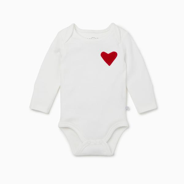 Mori Bamboo and Organic Cotton Heart BodySuit