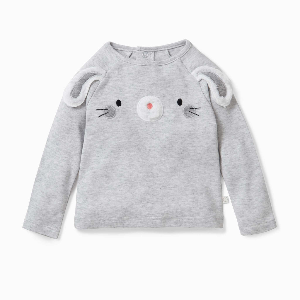 Mori Bamboo and Organic Cotton Bunny baby T-Shirt ethical sustainable kids children's clothes