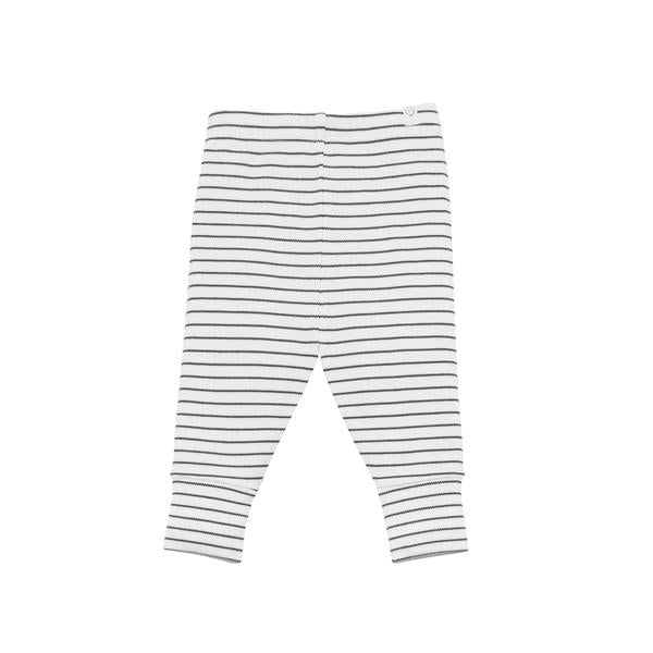 Mori Bamboo and Organic Cotton baby everyday leggings grey stripe