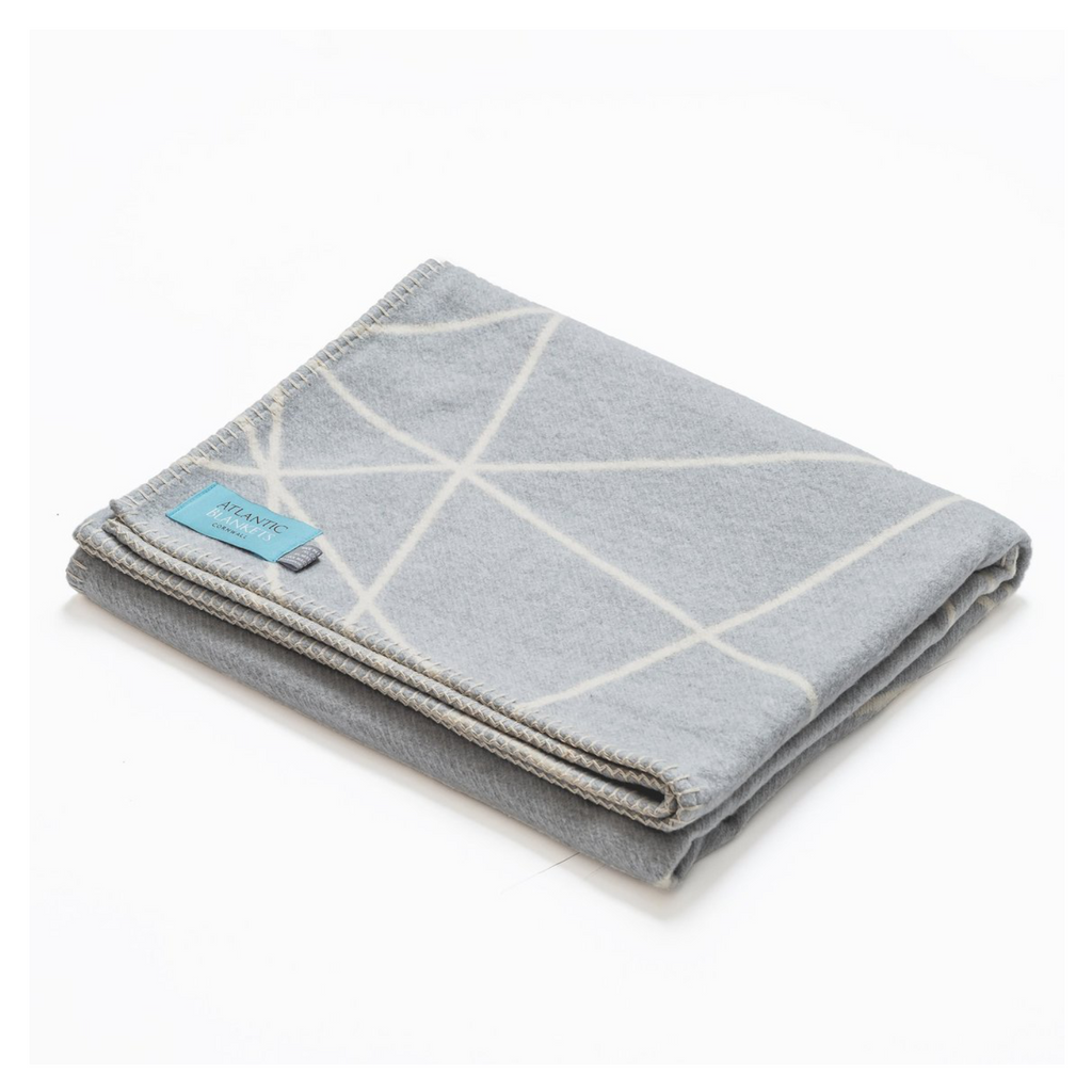 grey throw blanket recycled cotton
