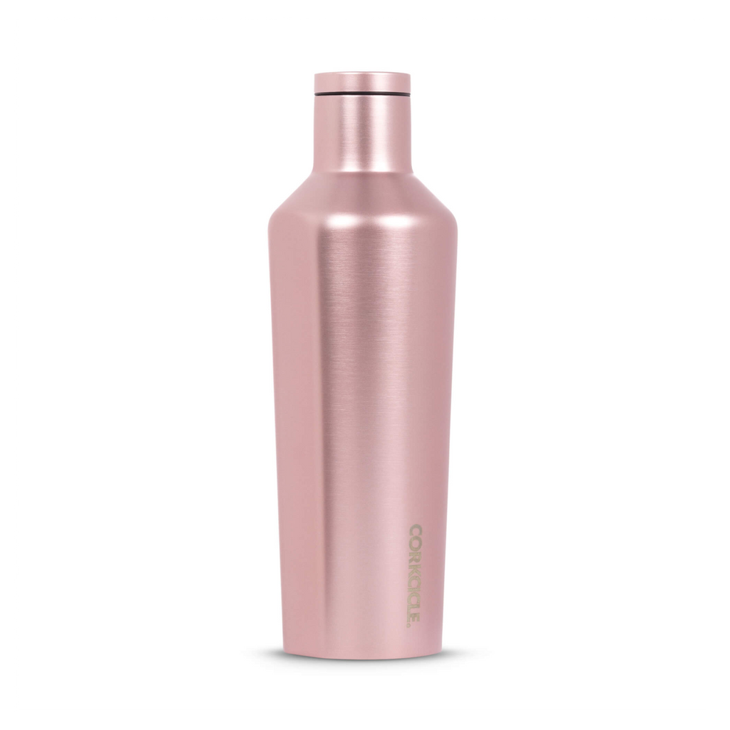 Corkcicle canteen - 16oz/475ml - Rose gold Metallic insulated travel bottle tumbler hot and cold gift for women