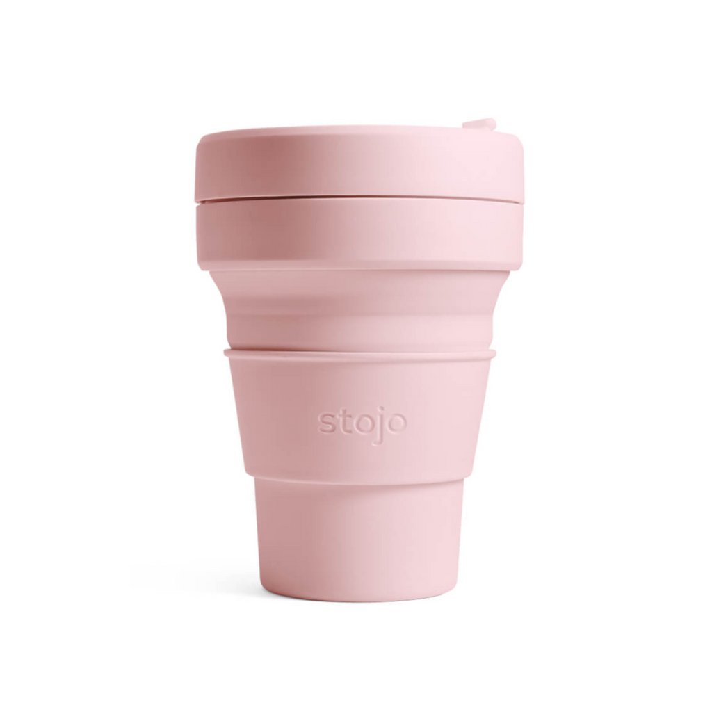 Stojo collapsible cup - 12oz - carnation reusable mug travel