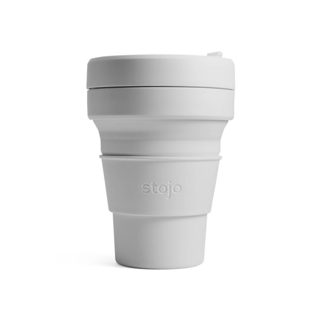 Stojo collapsible cup - 12oz - cashmere reusable travel mug