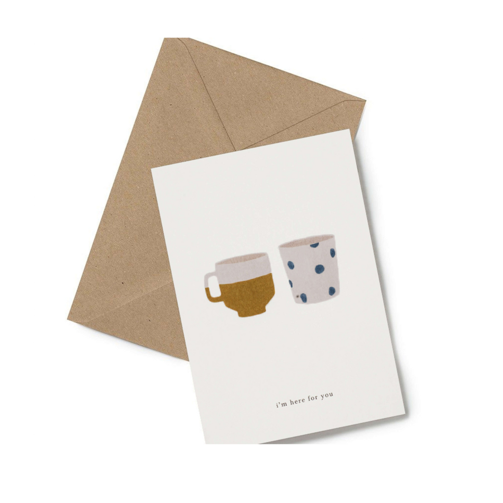I'm here for you friend card minimalist