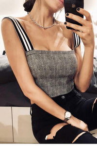 Sexy Off Shoulder Midriff Baring Blouse