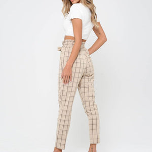 Fashion Plaid Pants