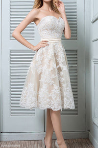 Elegant Formal Plain Lace Off Shoulder High Waist Skater Dress