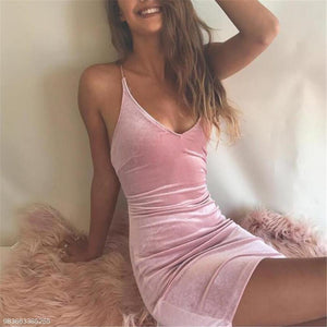 Sexy Fashion Slim Plain Sleeveless Halter Bodycon Dress