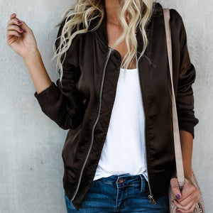 Stylish Solid Color Casual Jacket