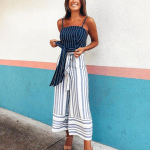 Striped Loose Casual Pants