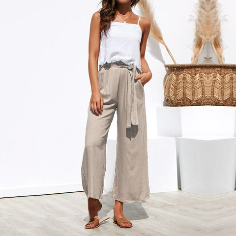 New Spring And Summer Casual Pants With Broad Legs
