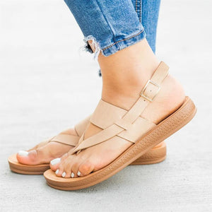 Summer Open Toed Plain Thick Sole Sandal