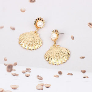 Net Red INS Shell Pearl Earrings