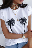 Women's Summer Personality Print Casual Loose T-Shirt Top