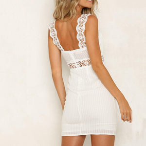 Sling Irregular Ruffled Hip Mini   Dress