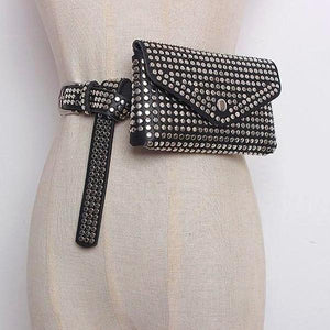 Chic Plain Rivets Embellished Pocket