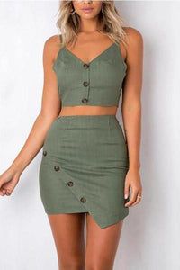 V-Neck Halter Strap With Sleeveless Hip Suit