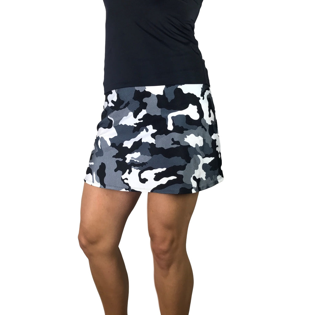 Camo Camouflage Print Athletic Slim Golf Skort - Smash Dandy