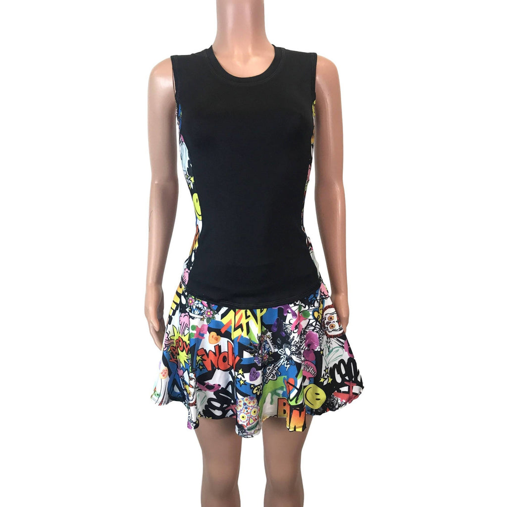 Women's Athletic Outfit- Athletic Oufit, Running Outfit, Golf Apparel, Tennis Outfit Skirt w/ built in compression shorts