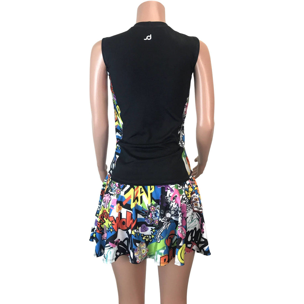 Women's Athletic Outfit- Athletic Oufit, Running Outfit, Golf Apparel, Tennis Outfit Skirt w/ built in compression shorts - Smash Dandy