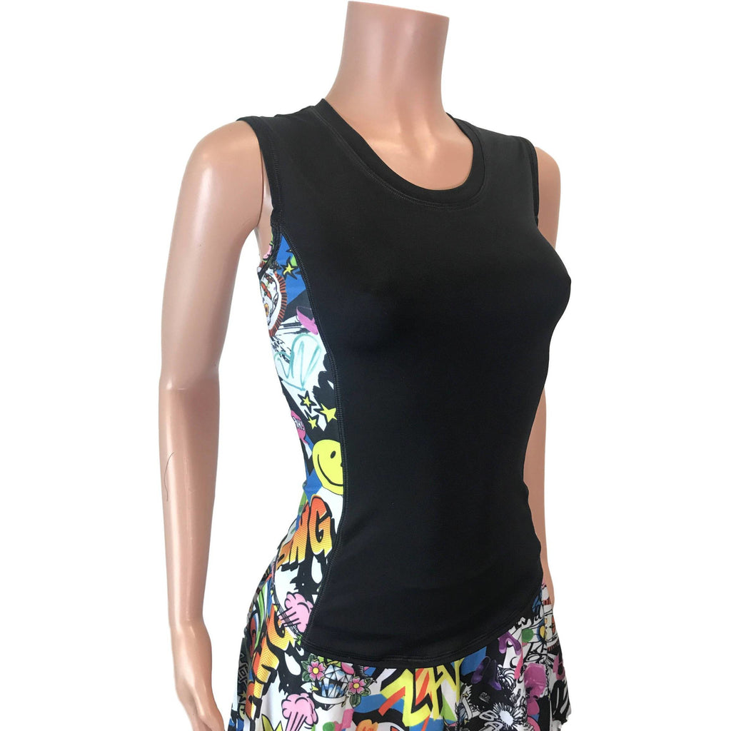 Graffiti Athletic Panel Tank - Smash Dandy