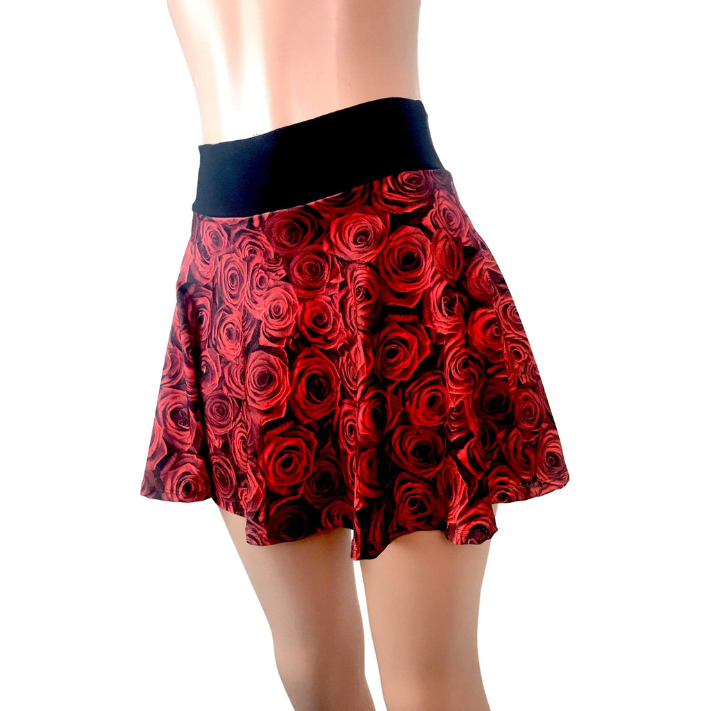 Roses Floral Women's Athletic Outfit - Shirt and Skort - Smash Dandy