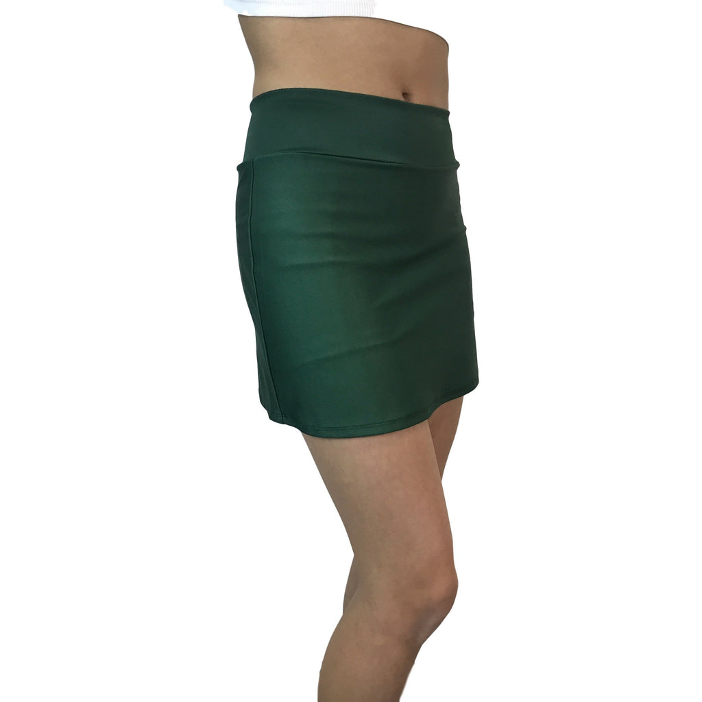 Hunter Green Athletic Slim Skirt w/ built in compression shorts and pocket- tennis skirt, golf skirt, running skirt