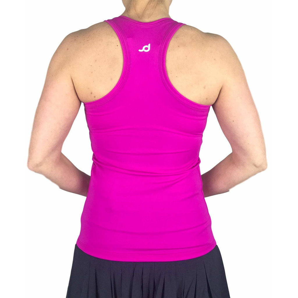 Pink Racerback Athletic Tank, Golf Shirt, Tennis Shirt, Running Shirt or Top, Yoga Top - Smash Dandy