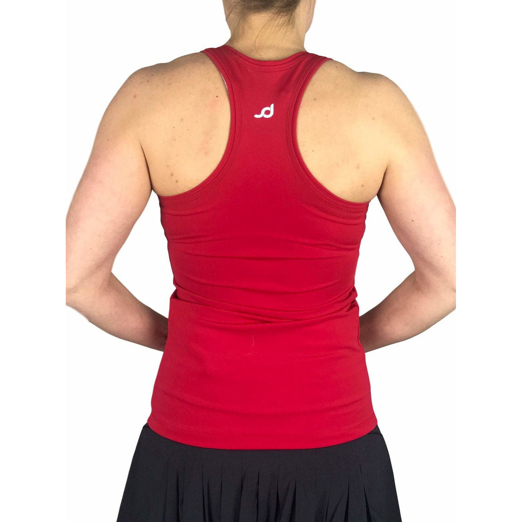 Red Racerback Athletic Tank, Golf Shirt, Tennis Shirt, Running Shirt or Top, Yoga Top - Smash Dandy
