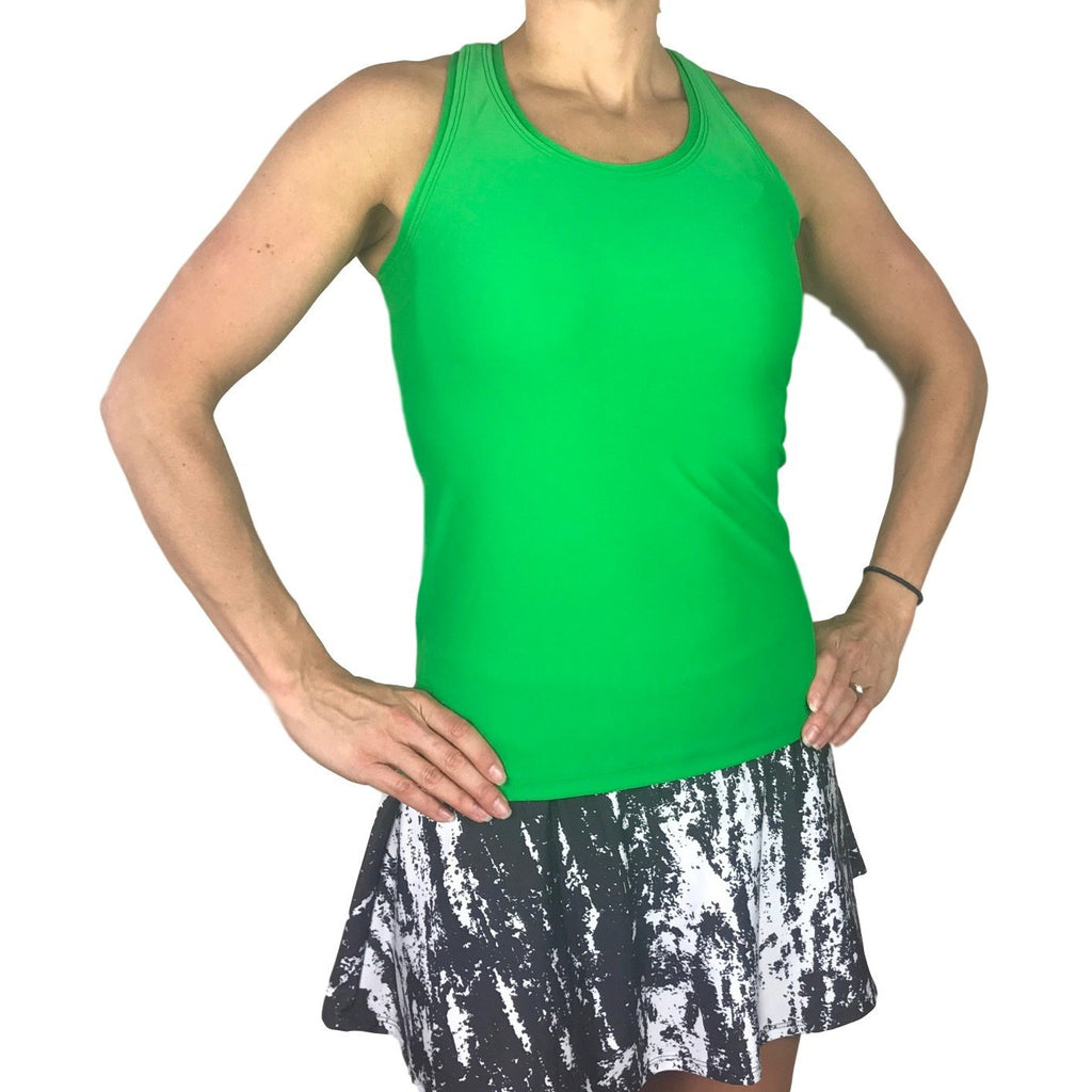 Kelly Green Racerback Athletic Tank, Golf Shirt, Tennis Shirt, Running Shirt or Top, Yoga Top