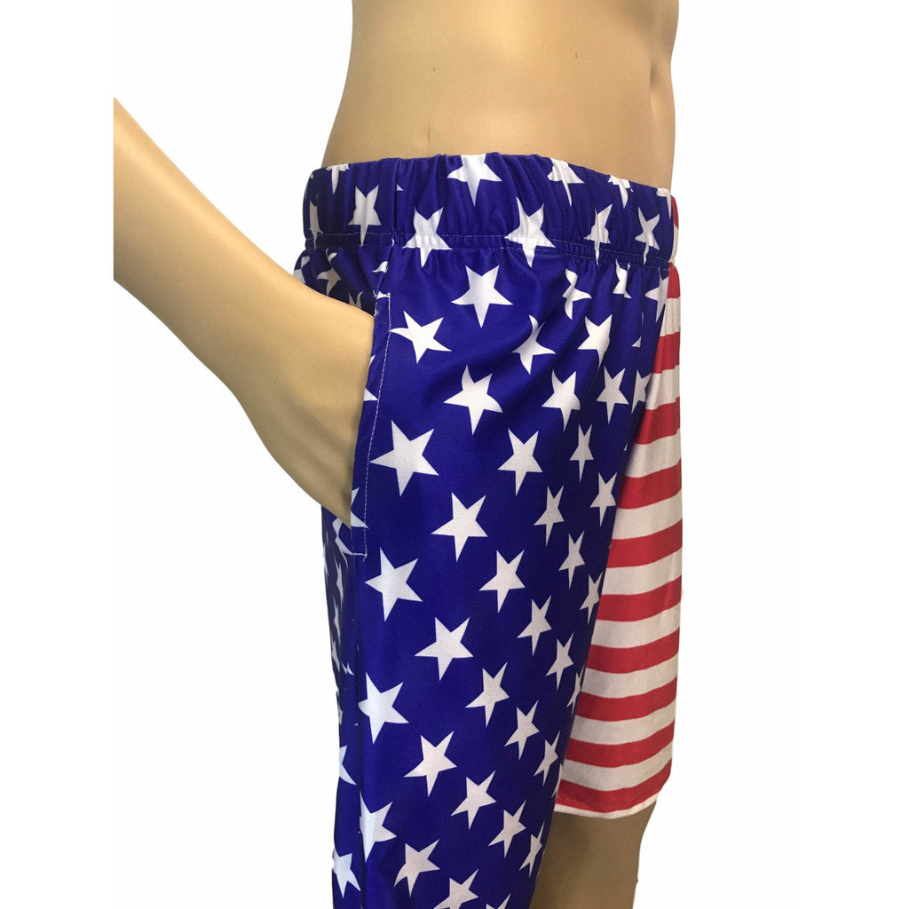 Stars & Stripes American Flag Men's Basketball Shorts