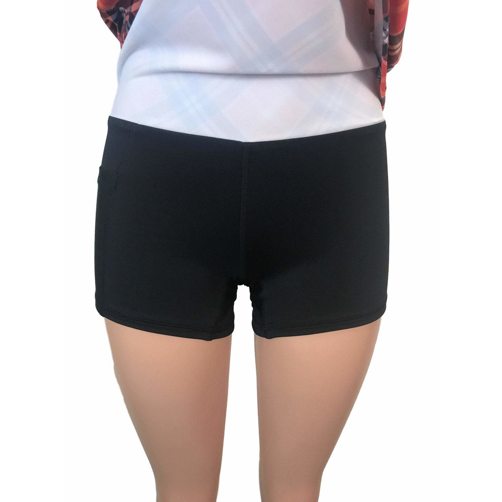 Red Plaid Athletic Slim Skirt w/ built in compression shorts and pockets - Smash Dandy