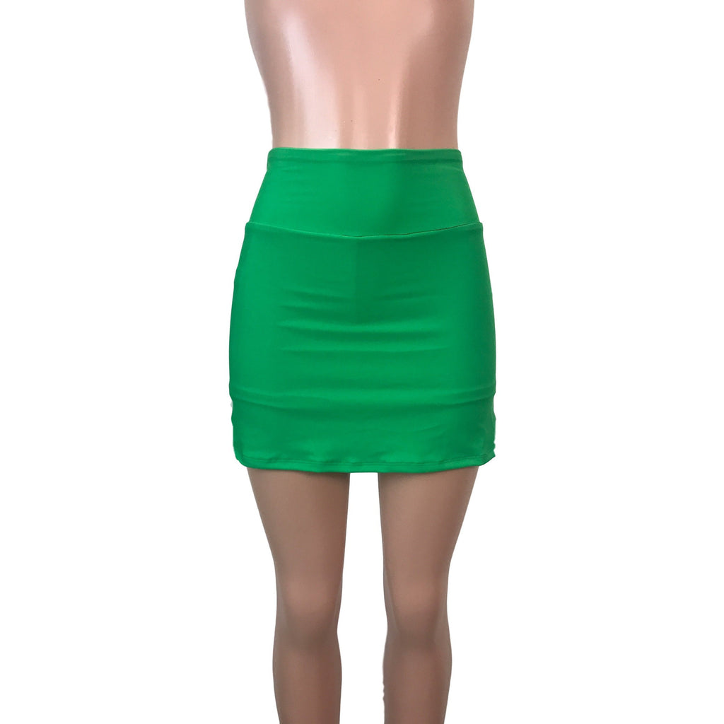 Kelly Green Athletic Slim Skirt w/ built in compression shorts and pocket- tennis skirt, golf skirt, running skirt