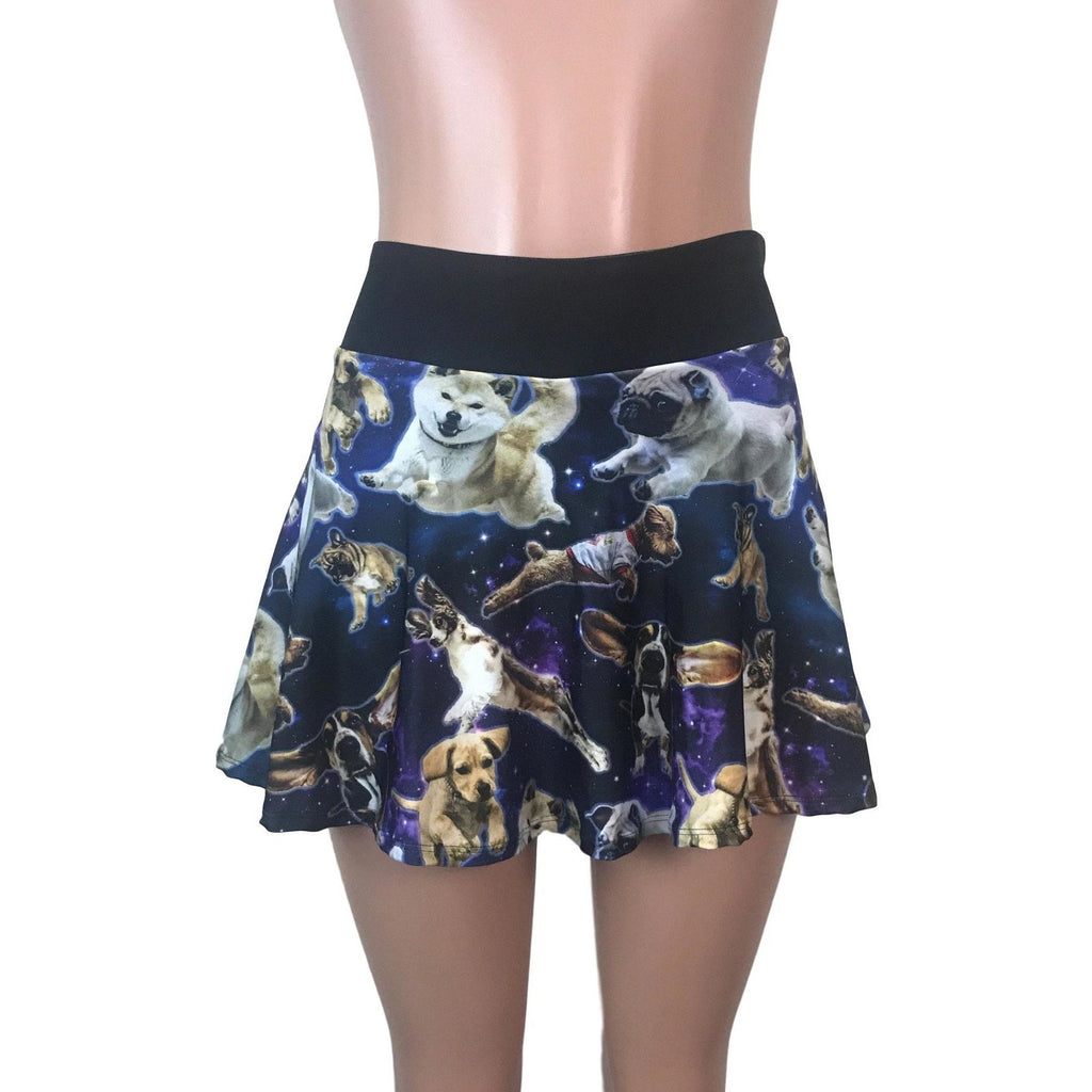 Dogs in Space Athletic Flare Skort - Smash Dandy