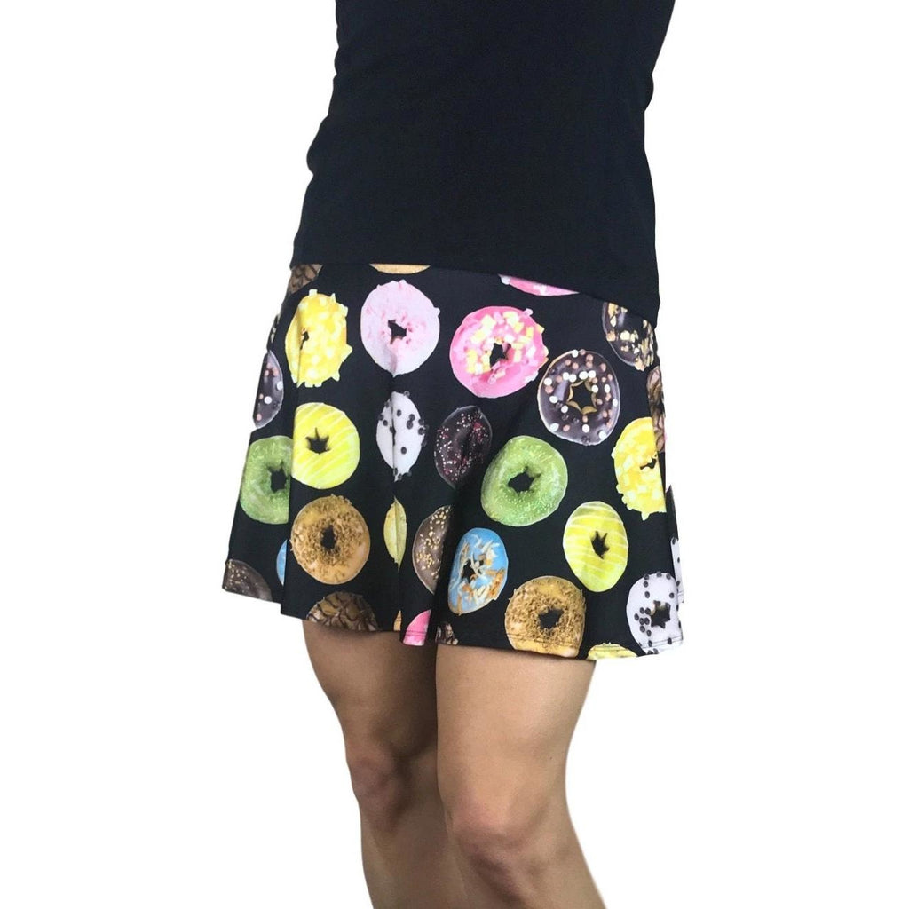 Donut Print Athletic Flare Skort - Smash Dandy