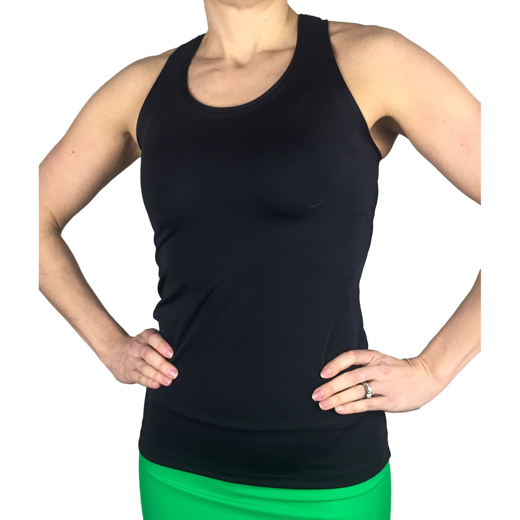 Black Racerback Athletic Tank - Smash Dandy